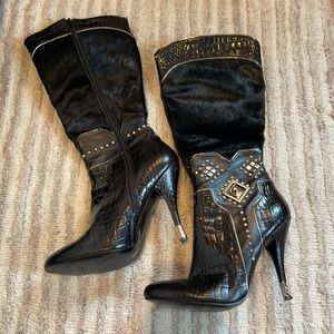 Baby Phat Black High Heeled Boots